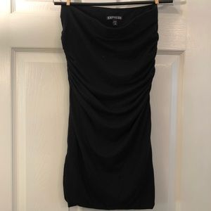 Express jersey knit side ruched pencil skirt